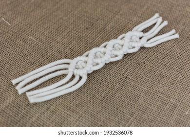 Macrame pattern (macrame cords, knots in macrama)