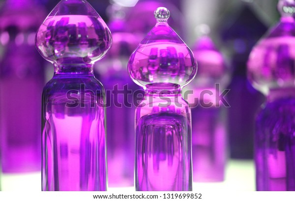 Macro abstract photo of a bright fashion background with glass elements