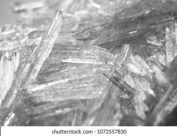 Macro background of menthol crystals.