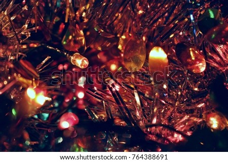macro background texture desktop screensaver holiday light toy is a luxurious gold new year 2018 glitter
