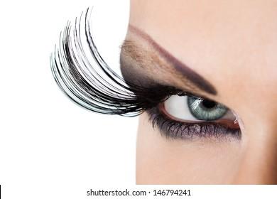 Macro of Beautiful Makeup