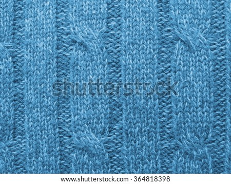 4406bece6f9eeb Macro Blue Winter Sweater Texture Background Stock Photo (Edit Now ...