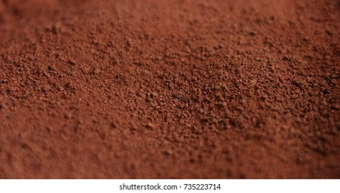 macro chocolate powder texture background