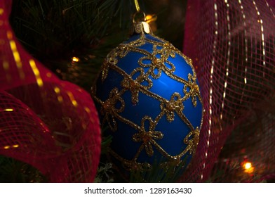 Macro of a Christmas Ornament