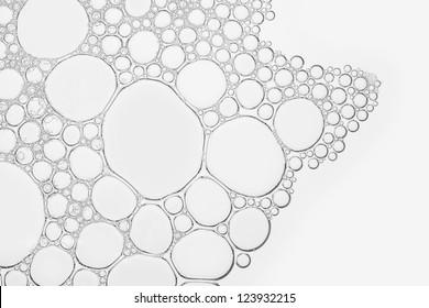 Macro close up of soap bubbles