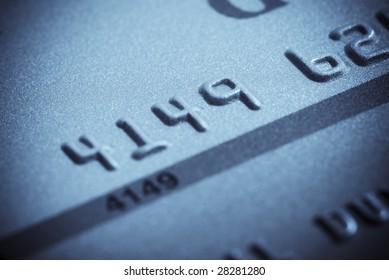 Macro close-up of credit card