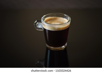 macro closeup of a single cup of cappuccino coffee - soft focus for effect