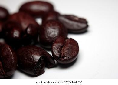 Macro of coffeebeans