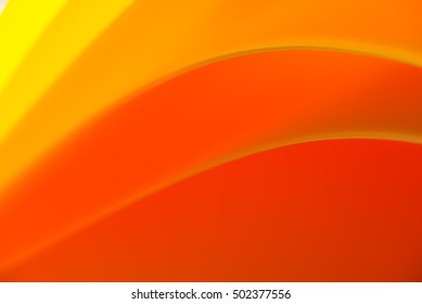 macro of colorful curved sheets of paper