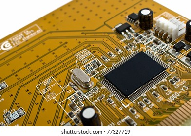 Macro of computer board and chip  - technology background
