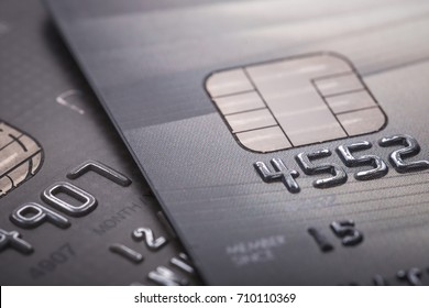 Macro credit card. Selective focus. For financial, Sale-Buy or business use