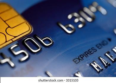 Macro of a credit card - shallow DOF