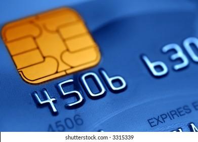 Macro of a credit card- shallow DOF