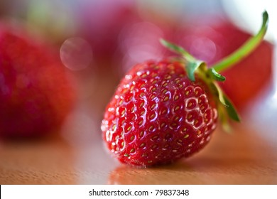 macro of a delicious strawberry