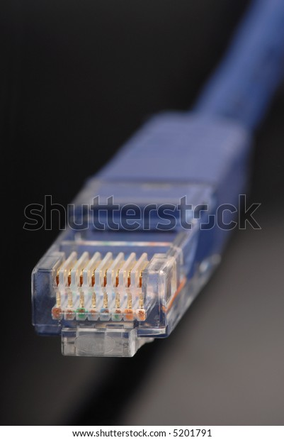 Macro detail of an ethernetconnector.