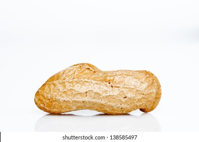 Macro detail of a peanut isolated