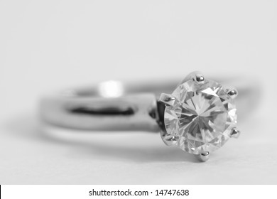 Macro of a Diamond Ring