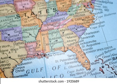 Southeast Us Map Images, Stock Photos & Vectors | Shutterstock