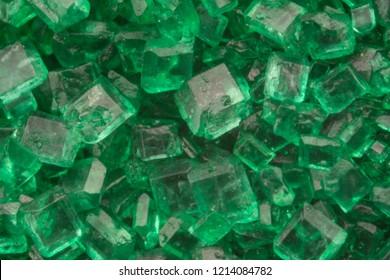 Macro of Green Sugar crystals covering image