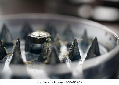 macro of grinder