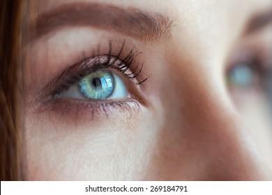 Macro image of female eye 3 closeup
