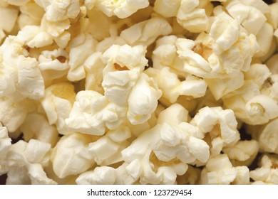 Macro image of a flavored pop corn