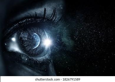 Image macro de l'oeil humain