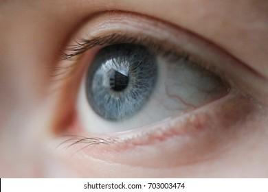 a Macro image of human eye