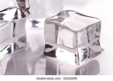 macro image of ice cube