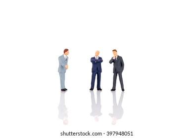 Macro Image : Miniature People Businessmen