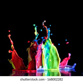 macro image of paint sculpture