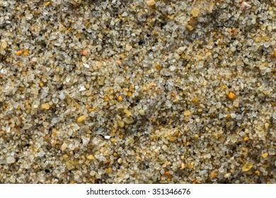 Macro image of sand on the beach.