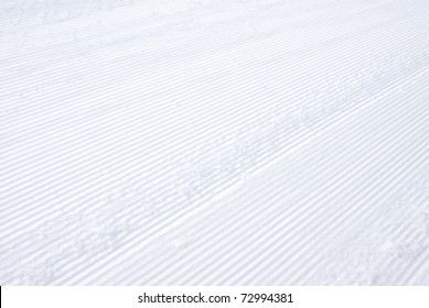 Macro image of a snow track.