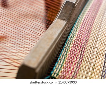 Macro of loom mat