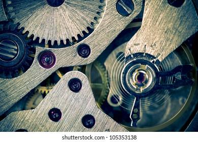 Macro Mechanical Gear Background / Horizontal / split toting