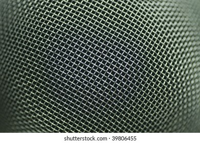 macro of metal mesh from stainer with limited focus