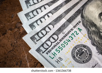 Macro Money American Dollars With Copy Space