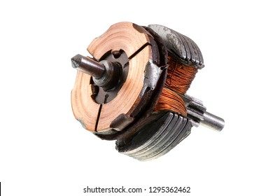 Macro of an old isolated inductor of an electric motor