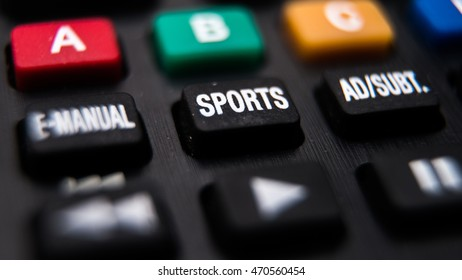 Macro on TV remote - SPORTS