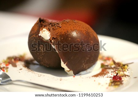 Macro Photo Beautiful Chocolate Dessert Tiramisu Stock Photo Edit