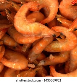 Macro Photo food frozen shrimp. Texture background seafood frozen shrimp. Image food product frozen shrimp