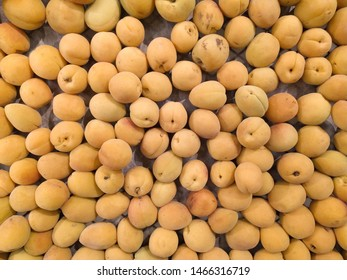 Macro Photo food tropical fruit apricot. Texture background of sweet yellow ripe apricots. Image food fruit apricots. Close-up