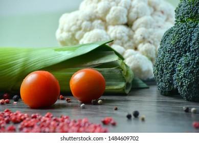 Macro photo green fresh vegetable broccoli. Image green fresh organic broccoli. Stock photo green cabbage broccoli