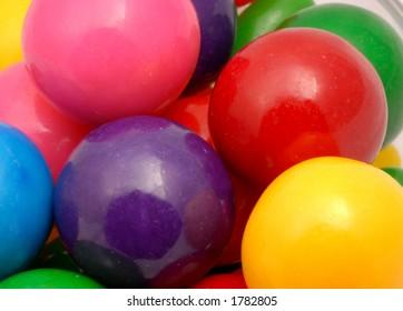 Macro photo of gumballs