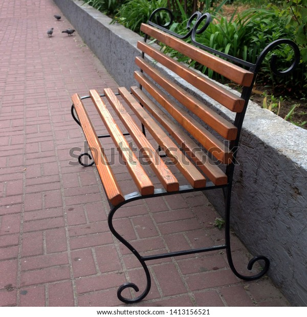 Pleasing Macro Photo Wooden Bench Texture Background Stock Photo Uwap Interior Chair Design Uwaporg