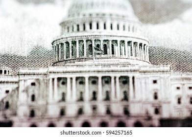 Macro photograph of a fifty dollar bill