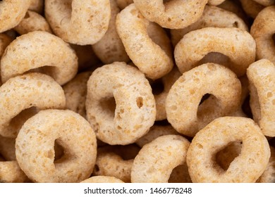 Macro photograph of healthy dry cereal rings.