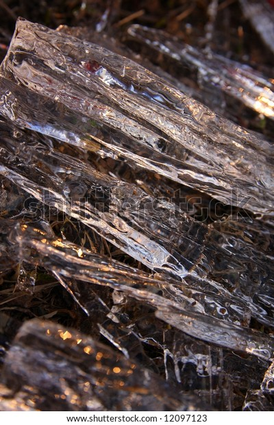 Macro picture of crystals ice