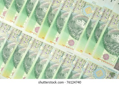 Macro of Polish bank notes, can be used as a background