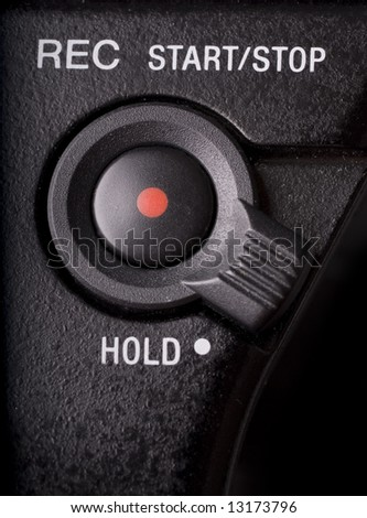 Macro REC Button Hold Switch On Stock Photo (Edit Now